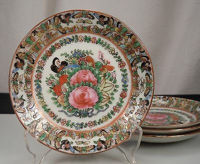 Chinese 1000 Butterfly Export Porcelain - 4 Bread Plates