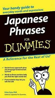 NEW Japanese Phrases For Dummies By Eriko Sato Paperback Free Shipping