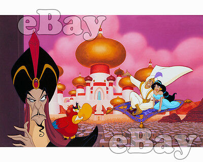 Rare! WALT DISNEY'S ALADDIN Cartoon Color 8 X 10 Photo