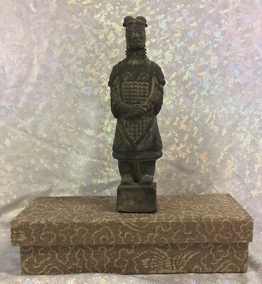 Vintage Chinese Terracotta Army Warrior Figurine Souvenir Made of Volcanic Ash