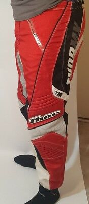 Thor Motocross Phase Pants Size 32 Red/Balck/White/Silver