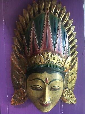 Indonesian Wood Mask Handcrafted