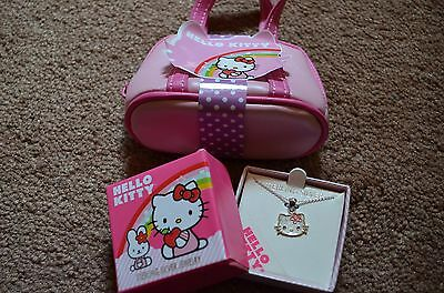 New in box Hello Kitty sterling silver necklace gift set