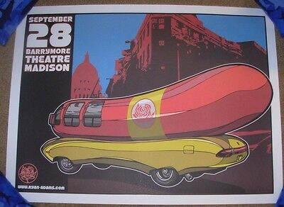 RYAN ADAMS concert gig poster MADISON 9-28-07 2007 daymon greulich