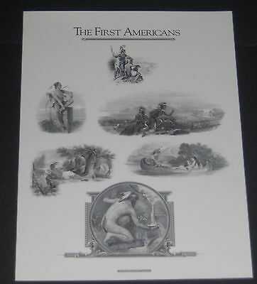 American Bank Note Co print 1990  'The First Americans' Native Americans VF