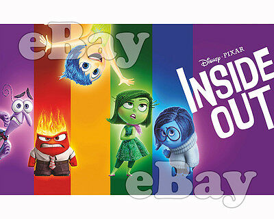 Rare! DISNEY PIXAR'S INSIDE OUT Cartoon Color 8 X 10 Photo
