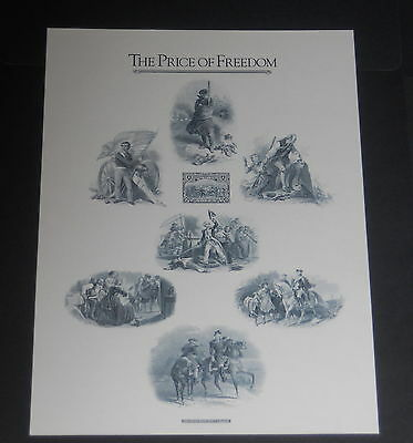American Bank Note Co print 1989 Archive 'The Price of Freedom' w/ Peru proof