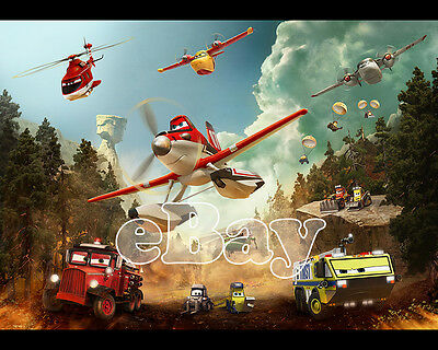 Rare! WALT DISNEY'S PLANES FIRE & RESCUE Cartoon Color 8 X 10 Photo