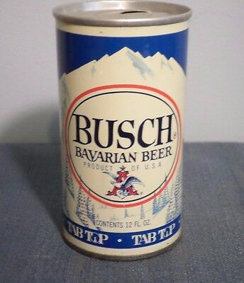 Vintage Busch Bavarian Tab Top 7 City Straight Steel Beer Can GB