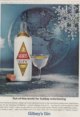 1963 Gilbey's Gin: Out of This World for Holiday Entertaining (22211) Print Ad