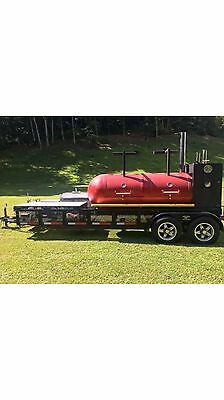 Grill and smoker on trailer