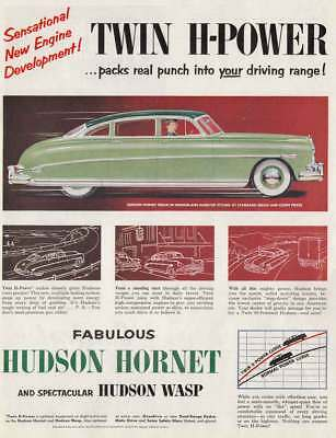 1952 Hudson Hornet: Twin H Power (18823) Print Ad