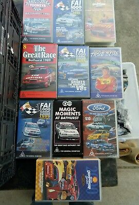 vhs/videos Bathurst v8 supercars ford holden