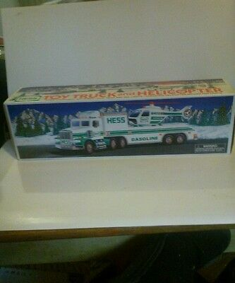 Vintage 1995 Hess Truck And Helicopter Mint In Box
