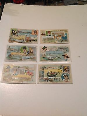 Nice Set of Arbuckle Bros. Coffee Trade Cards:  Views of the World