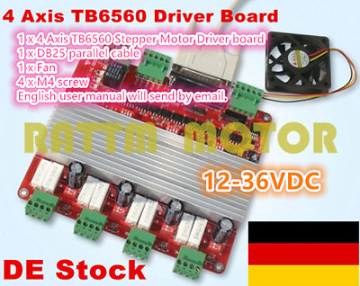 【DE】 4 Axis TB6560 4V Type Stepper Motor Driver Board Controller For CNC Router