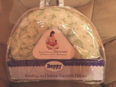 Original  Chicco Boppy Breast Feeding Pillow With Slipcover Sweet Pea  EUC