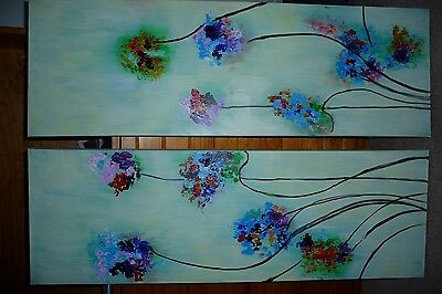 Canvas oil paintings x 2