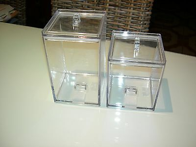 2 x Stash canisters clear