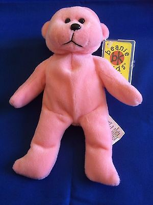 "Skansen Beanie Kids  "" SADIE the BABY PINK Bear  BK 082 """