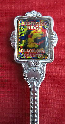 Collectable Spoon - Lightning Ridge - Black Opal Country
