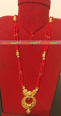 Gold plated mangalsutra jewellery set Ethnic Bridal Wear Necklace Jewelry7