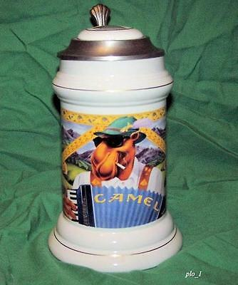 Limited Edition COOL JOE CAMEL LIDDED Collector's Stein!