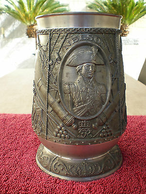 Very Rare The Victory 175 Yers at Trafalgar by Lord Nelson Tankard-Stein Puter