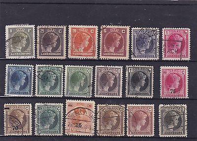 ancien timbres stamps  luxembourg