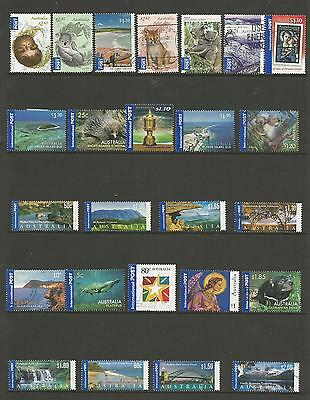 25 Australian International Post stamps used