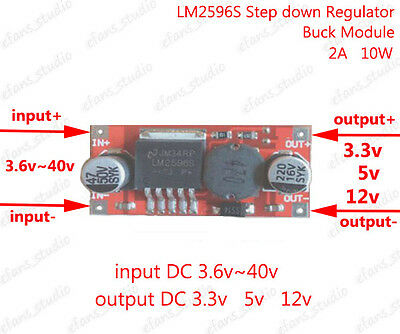 DC-DC 3.6~40V 24V 36V to 3.3V 5V 12V 2A Buck Step-down Voltage Converter Module