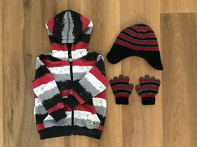 Boy/Girls Hoodie, Beanie and Gloves - Size 3