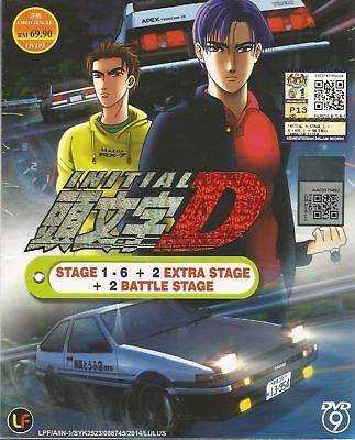 DVD Initial D Stage 1-6 +2 Battle Stage +2 Extra Complete Japan Anime Free Ship