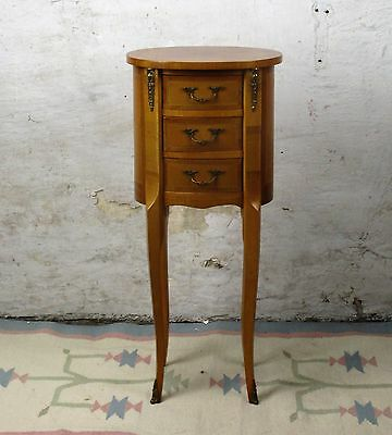 French Louis XV style Side Table Chest of drawers Cabinet  Nightstand Inlay