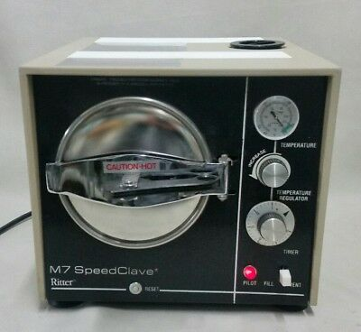 Ritter Midmark M7 Speedclave Autoclave Sterilizer Medical Dental Tatoo Vet M 7