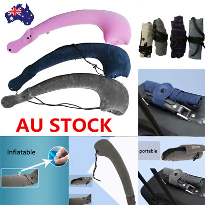 L Shaped Portable Inflatable Travel Neck Pillow Flight Rest Support Air Cushion