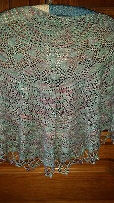 selbstgestricktes Lacetuch