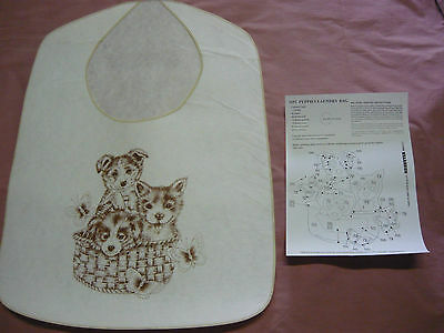 Vintage Hobbytex Picture- Puppies Laundry Bag #3692