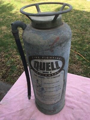 Vintage Copper and Brass Fire Extinguisher Quell 1968