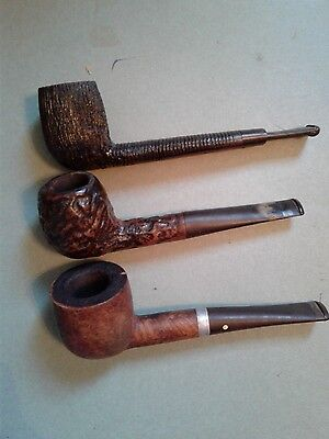 Lot of 3 Vintage Unbranded Smoking Tobacco Estate Pipes