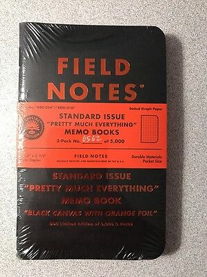 Field Notes - Standard Issue Pretty Much Everything 3-Pack, New, DDC, Draplin