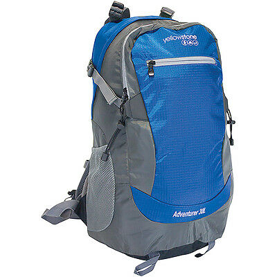 Adventurer 30L Rucksack Shoulder Bag Travel Camping Backpack Outdoor Luggage Blu