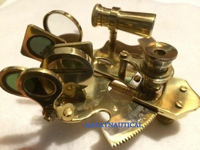"4"" Nautical Brass Sextant ~ NO BOX ~ Sextent Astrolabe @"