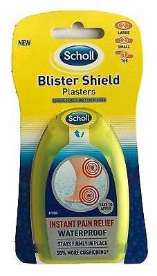 Scholl Blister Shield Plasters 2 Large, 2 Small and 1 Toe Plaster