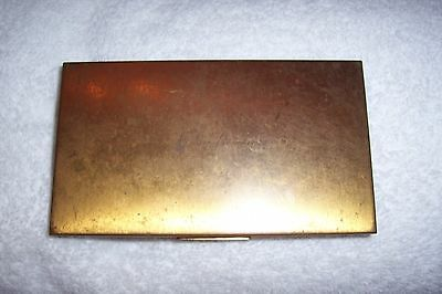"Vintage gold metal cigarette case 5"" X 3"""