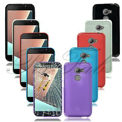 For Vodafone Smart N8 VFD 610 New Clear Genuine Gel Rubber Phone Case + T Glass