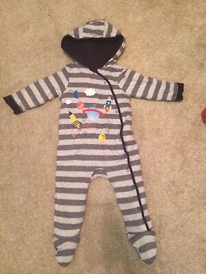 Boys Bluezoo All In One Snowsuit Sleepsuit 9-12 months