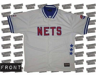 NBA New York Nets, Erving, Warm up Jersey. Champion. (Mens Large) Vintage.
