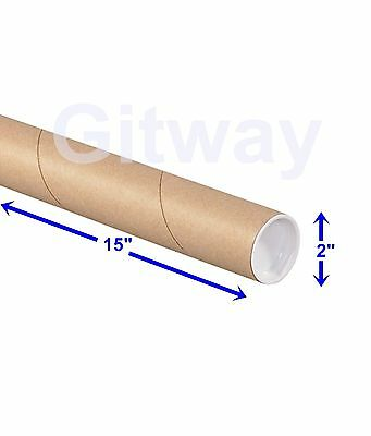 "2"" x 15"" Cardboard Poster Shipping Mailing Packing Postal Tube 2x15"" Box Tubes"