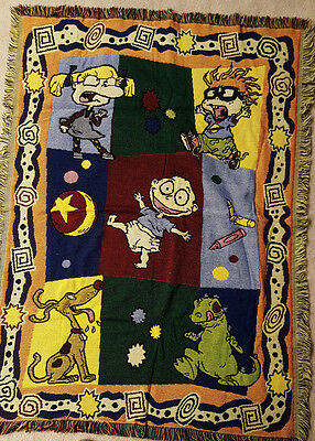 RUGRATS ~ Vintage Afghan ~ Throw ~ Blanket